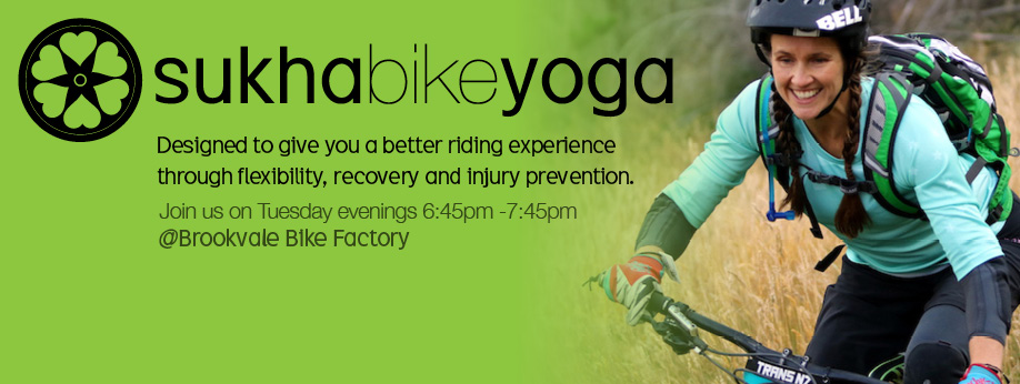 Tuesday night yoga for bike riders!